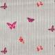 Rico Design Druckstoff Schmetterling Farbe grau 160 cm x 10cm