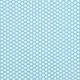 Rico Design Druckstoff hellblau Blümchen weiß 160 cm x 10cm