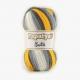 Papatya Batik Farbe 45 gelb-grau-weiß